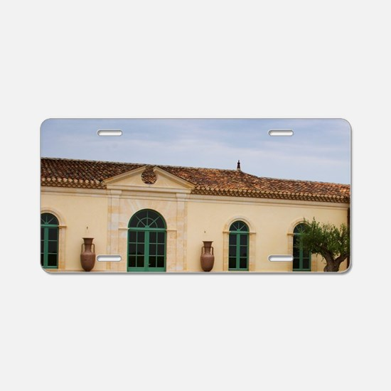 Urns and olive tree Pomerol Aluminum License Plate