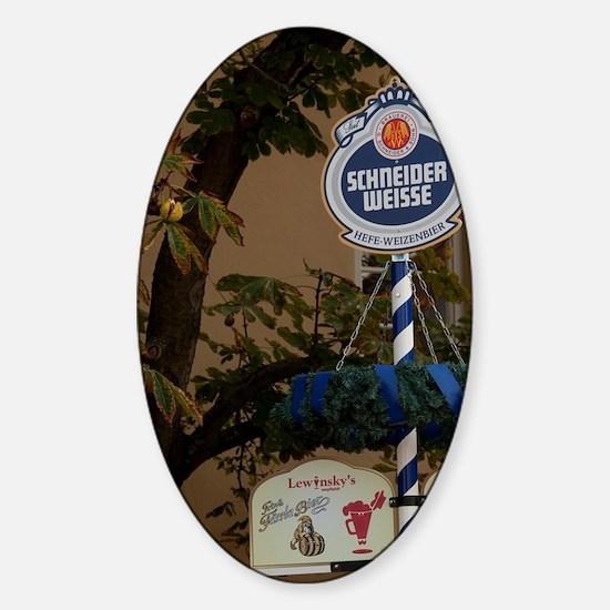 Germany, Bamberg. Typical biergarte Sticker (Oval)