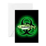 Biohazard Lutefisk Greeting Cards (6/Pk)
