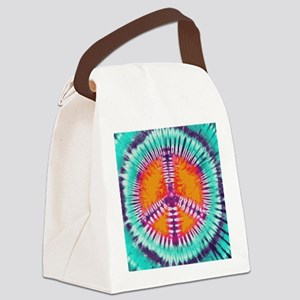 Pillow Blue Peace Canvas Lunch Bag