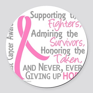 - ©Supporting Admiring Honoring B Round Car Magnet