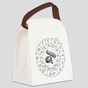 Circle of Fifths TSHIRT harpmic W Canvas Lunch Bag
