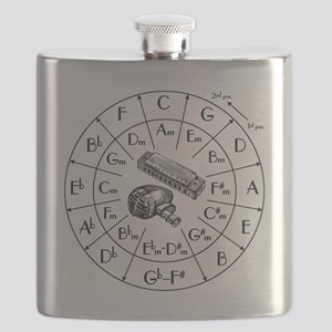 Circle of Fifths TSHIRT harpmic WHITESHIRT Flask
