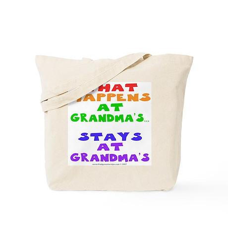 What happens at Grandma's... Tote Bag