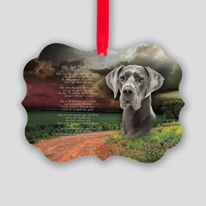 godmadedogs(oval) Picture Ornament