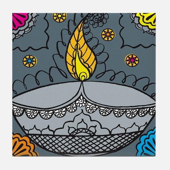 Diwali fun laughter Tile Coaster