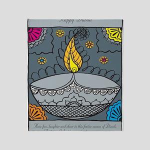 Diwali fun laughter Throw Blanket