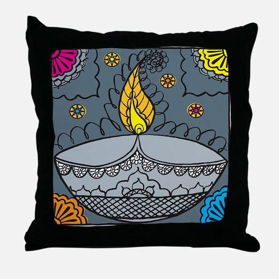 Diwali fun laughter Throw Pillow
