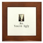 No. You're Ugly. Framed Tile