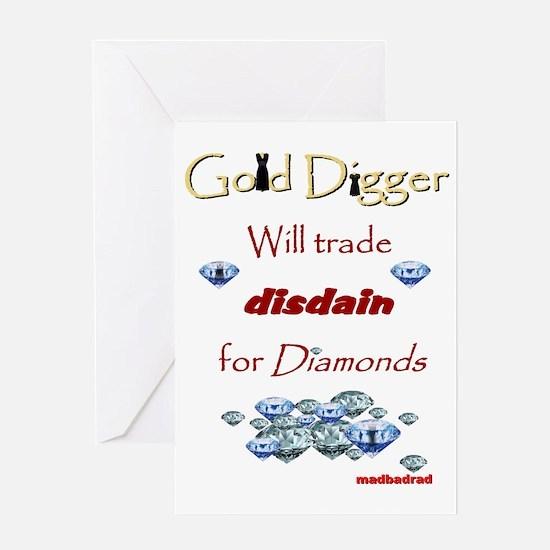 LBD Gold Digger 6000 Greeting Card