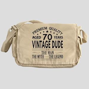 VINTAGE DUDE AGED 70 YEARS Messenger Bag