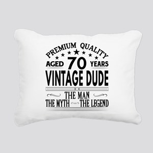 VINTAGE DUDE AGED 70 YEARS Rectangular Canvas Pill