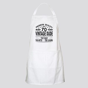 VINTAGE DUDE AGED 70 YEARS Light Apron