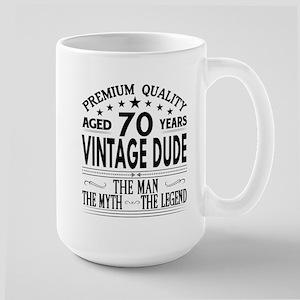 VINTAGE DUDE AGED 70 YEARS Mugs