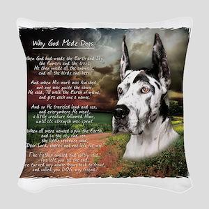 godmadedogs4 Woven Throw Pillow