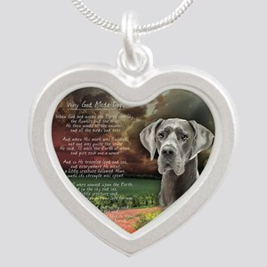 godmadedogs(button) Silver Heart Necklace