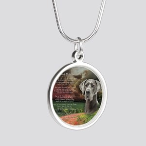 godmadedogs(button) Silver Round Necklace