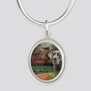 godmadedogs(button) Silver Oval Necklace