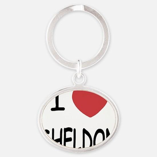 SHELDON Oval Keychain