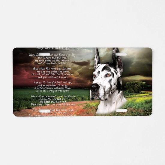 godmadedogs(carmag)2 Aluminum License Plate