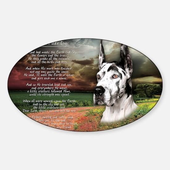 godmadedogs(carmag)2 Sticker (Oval)