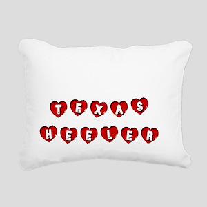TEXAS HEELER Rectangular Canvas Pillow