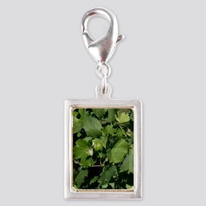 Village church, vineyard, Mo Silver Portrait Charm