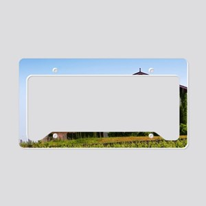 The winery of Chateau Troplon License Plate Holder