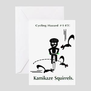 kamikaze_xparent Greeting Card