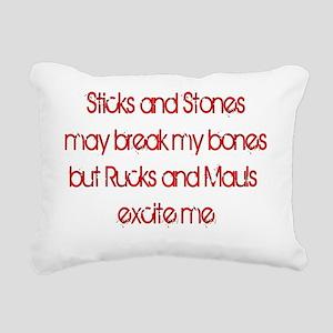 SticksAndStones-DARK Rectangular Canvas Pillow
