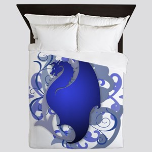 Urban Fantasy Blue Dragon Queen Duvet