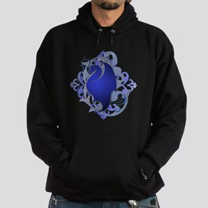 Urban Fantasy Blue Dragon Hoodie (dark)