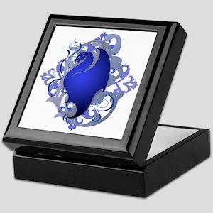 Urban Fantasy Blue Dragon Keepsake Box