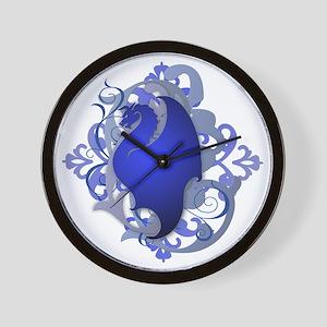 Urban Fantasy Blue Dragon Wall Clock