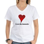 I love my ammachi Women's V-Neck T-Shirt