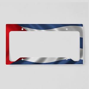 cuba_flag1 License Plate Holder