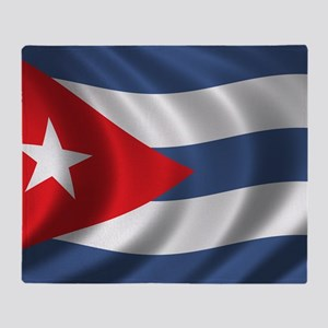 cuba_flag1 Throw Blanket