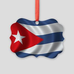 cuba_flag1 Picture Ornament