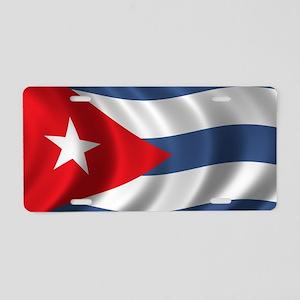 cuba_flag1 Aluminum License Plate