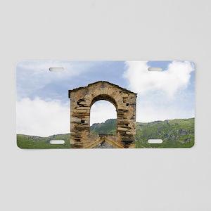 Corsica. Abandoned stone ch Aluminum License Plate
