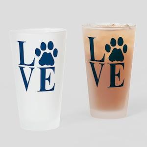 Love Paw Drinking Glass