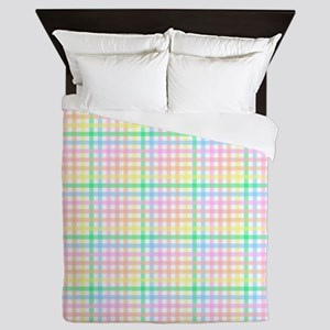 Pastel Checkerboard Queen Duvet