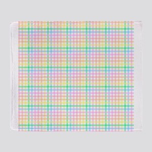 Pastel Checkerboard Throw Blanket