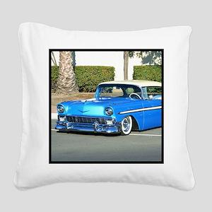 blue classic car Square Canvas Pillow