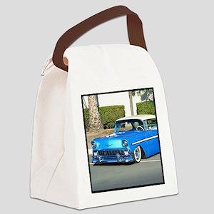 blue classic car Canvas Lunch Bag
