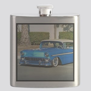 blue classic car Flask