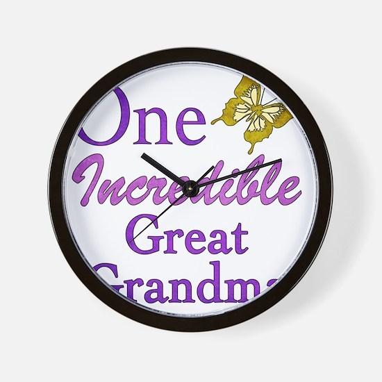 IncredibleGreatGrandma Wall Clock