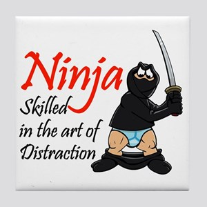 ninja_distraction Tile Coaster