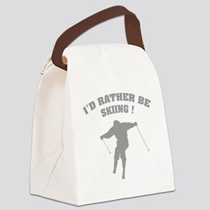 ratherbeSkiing3 Canvas Lunch Bag