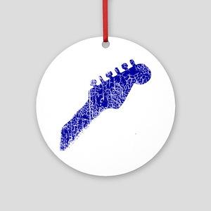 guitar headstock blue2 Round Ornament